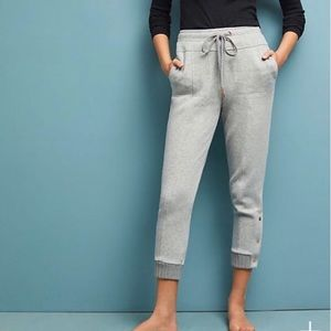 Saturday Sunday gray terry crop jogger - Large